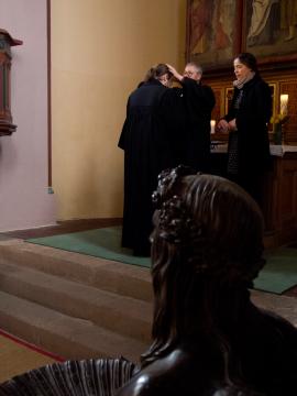 Begruessung Johannes Thon in Niemberg