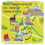 Karte Kirchentag auf dem Weg