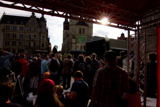 Impressionen vom Kirchentag auf dem Weg Halle/Eisleben