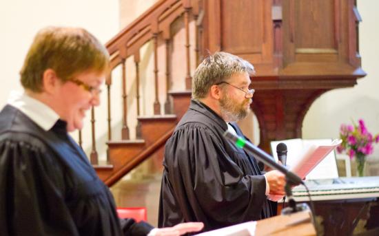 Einführung des Pfarrerehepaars Meißner in Könnern